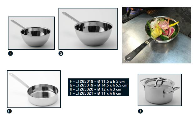 Мини кастрюля, сковорода, wok из нерж. стали